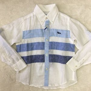 Harmont & Blaine Linen Button Down Shirt Size XS